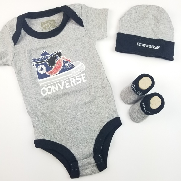 9ea7eea984209 All Star Converse Infant 3 Piece Baby Set